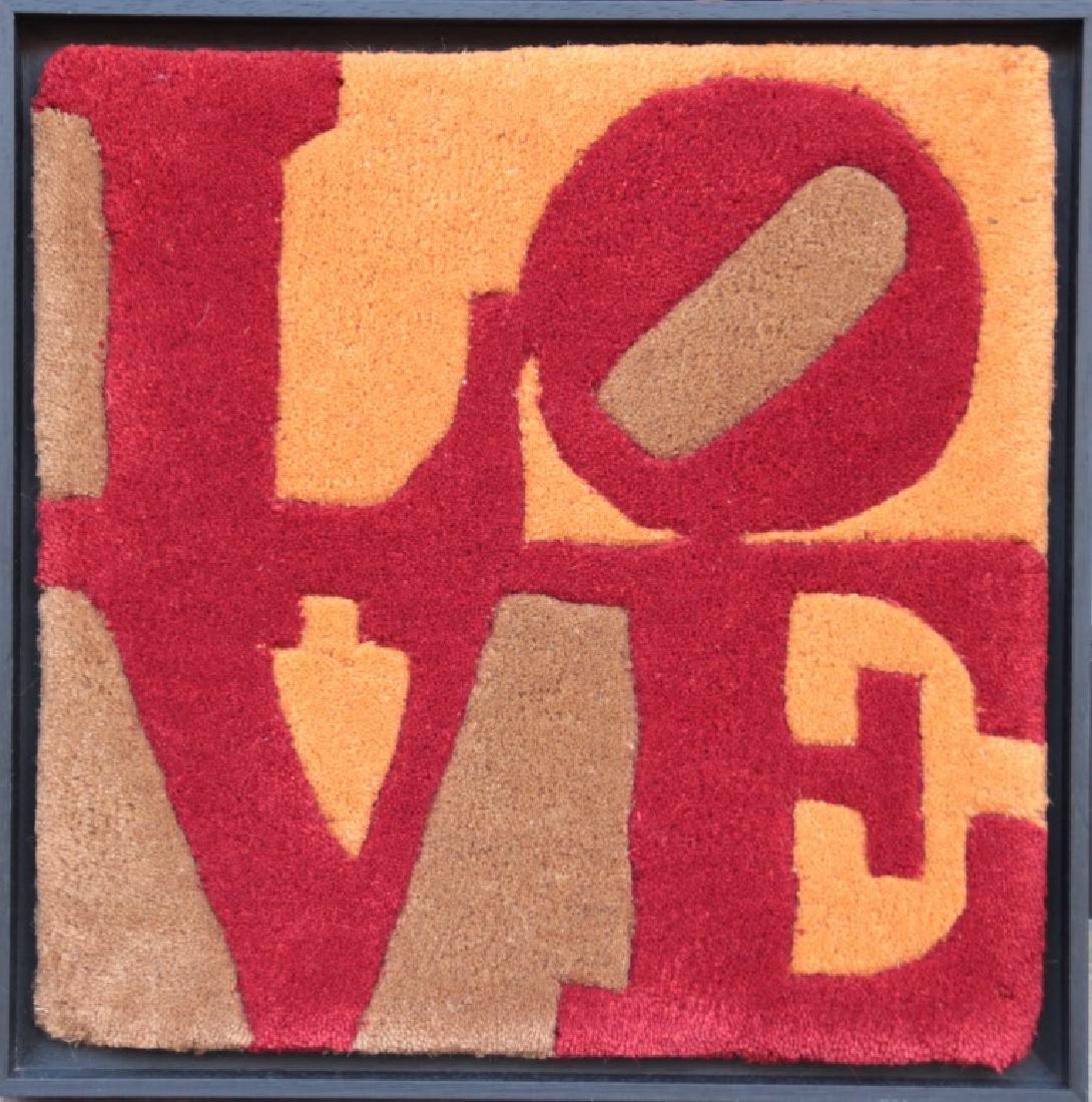Robert INDIANA (1928), d'après  LOVE Tapis en laine