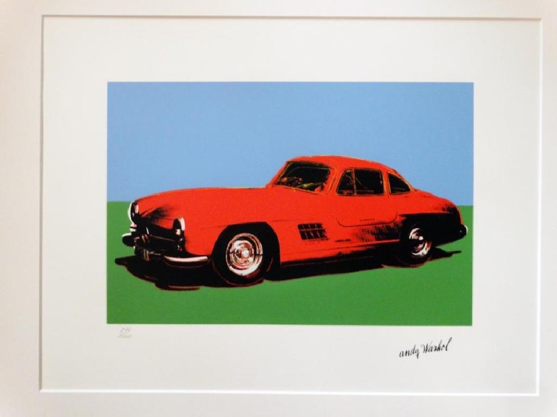 Andy WARHOL (1928-1987) Old car red  Sérigraphie en