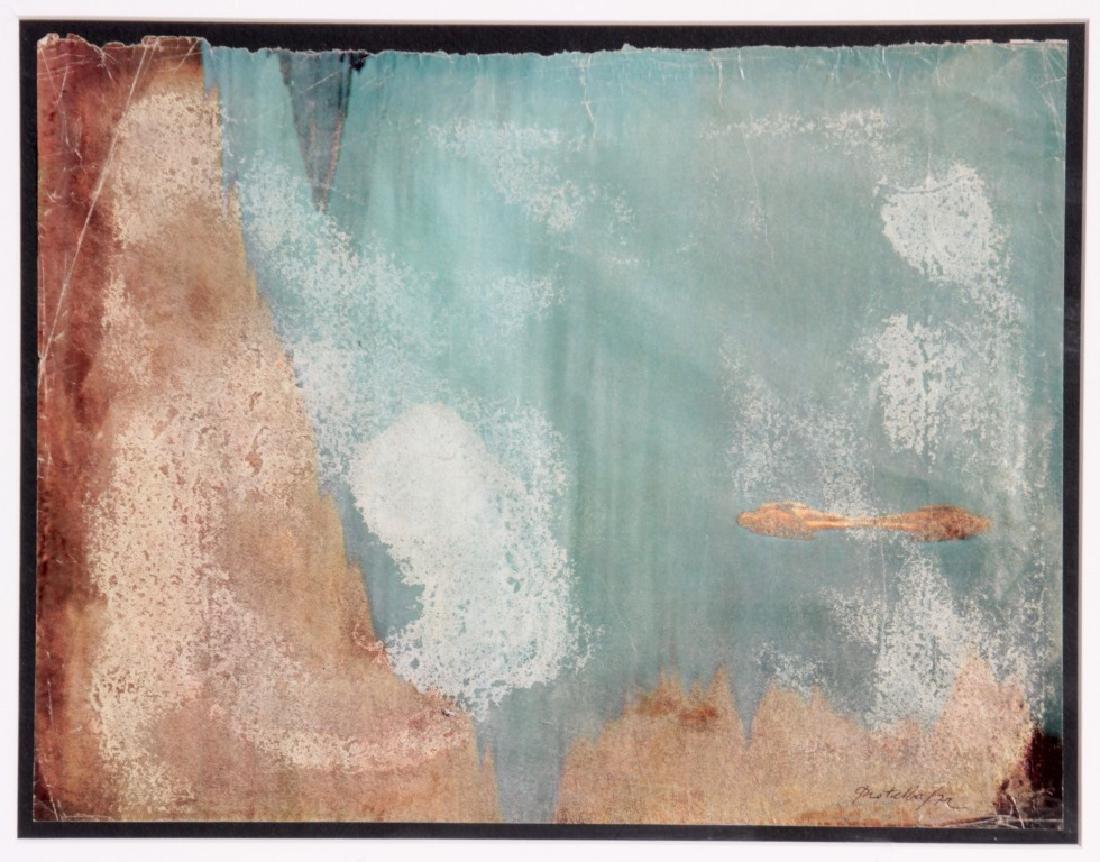 Mimmo ROTELLA (1918-2006) Paysage - 1972 Effaçage sur