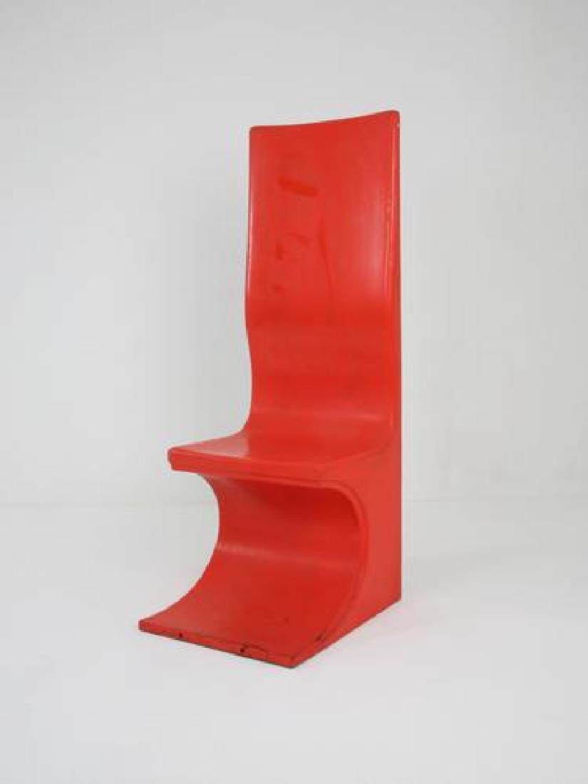 Travail des années 1970 Paires de chaises en PVC