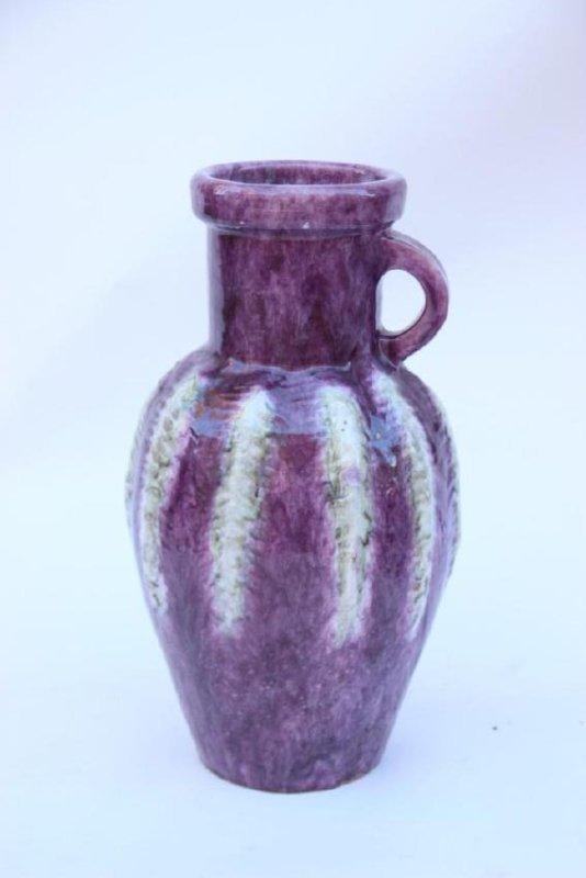 Arlette ROUX (XX) - Juan les pins Vase amphore en terre
