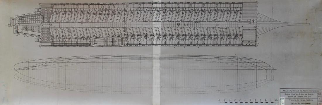 "Plan de la Galère ""Real"" de D. Juan de Austria -"