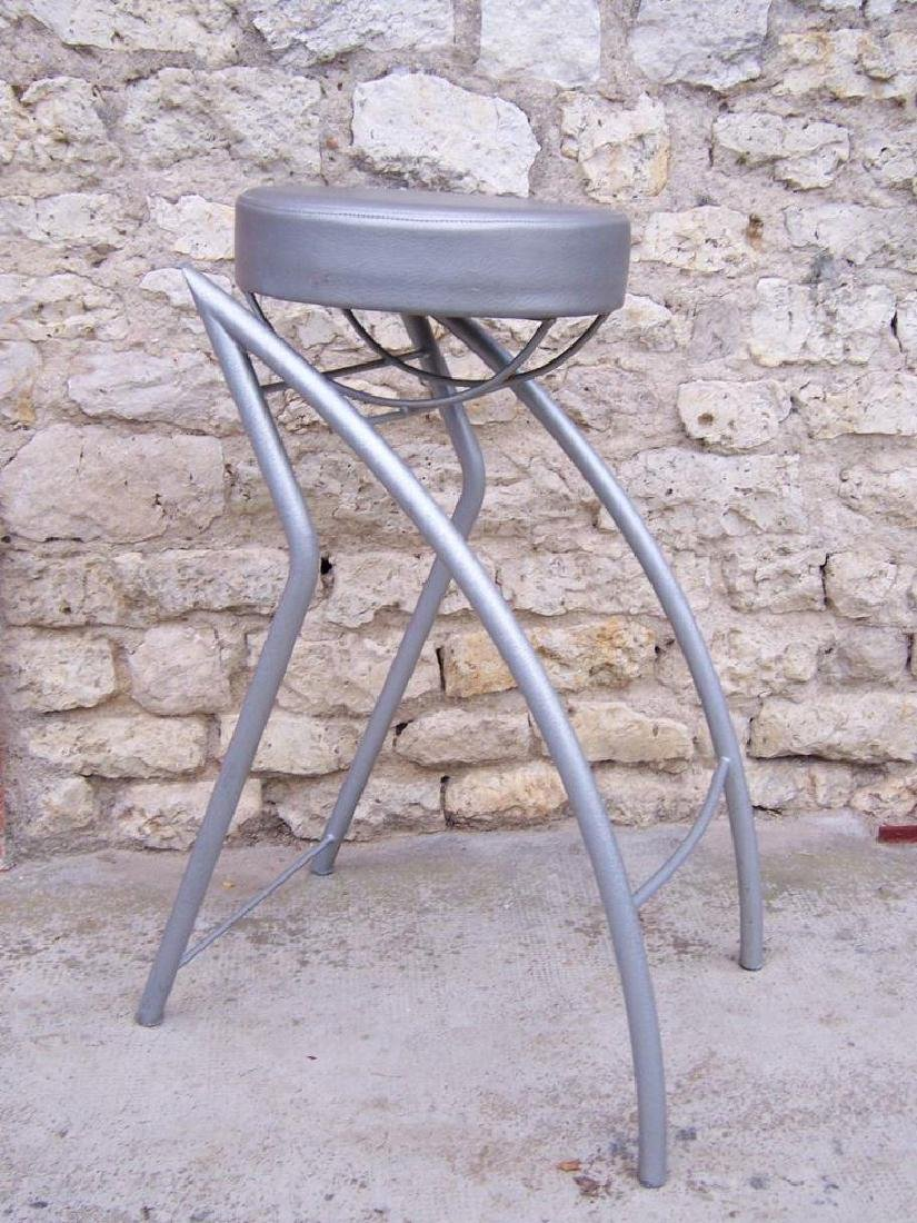 Jean-Louis GODIVIER (1944) Tabouret de bar, en acier