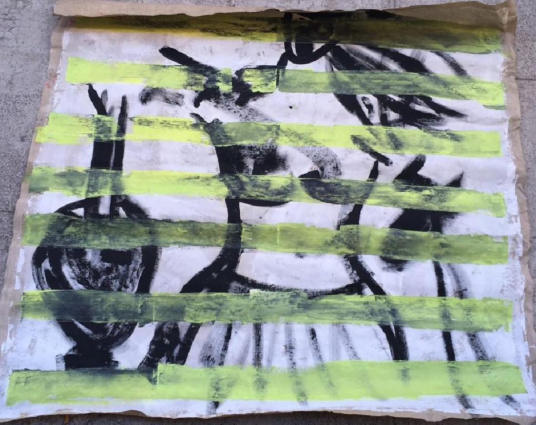 Maryanne LJUNG Composition abstraite noire, blanche et