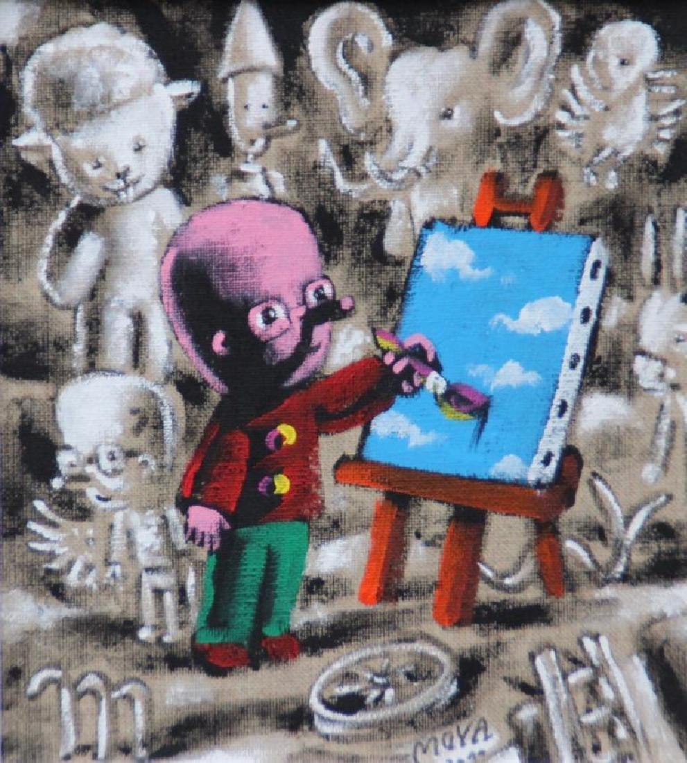 Patrick MOYA (1955)  Moya peintre - 2011  Acrylique sur