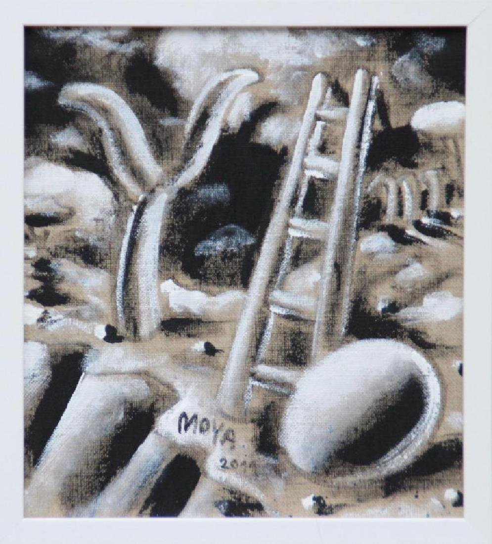 Patrick MOYA (1955) Moya land - 2011  Acrylique sur