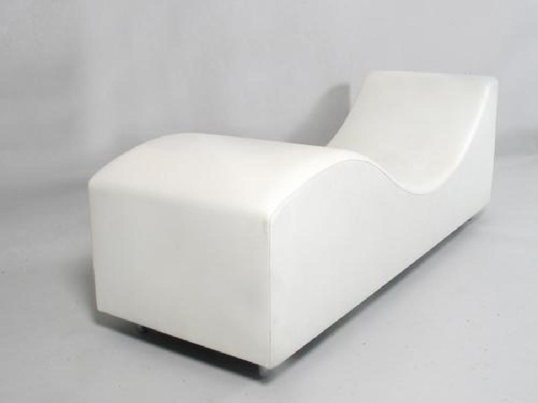 """Chaise longue modèle """"chaise longue vinyl"""" en cuir"""