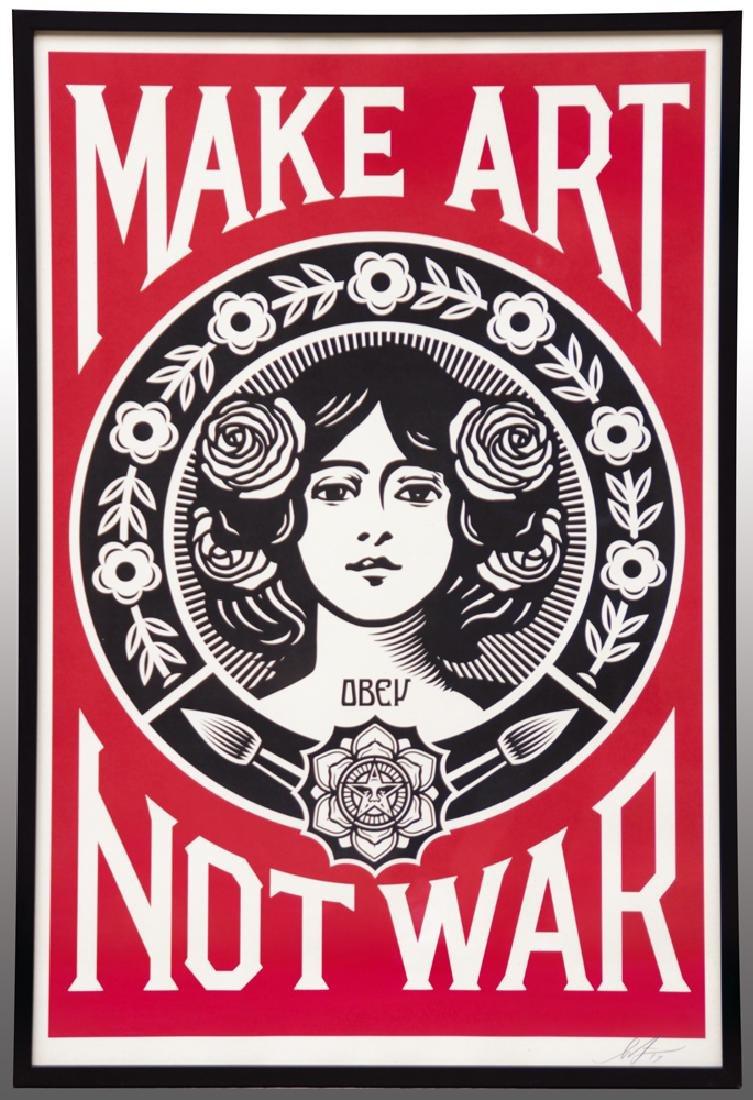 Shepard FAIREY (1970) Make Art Not War 2017