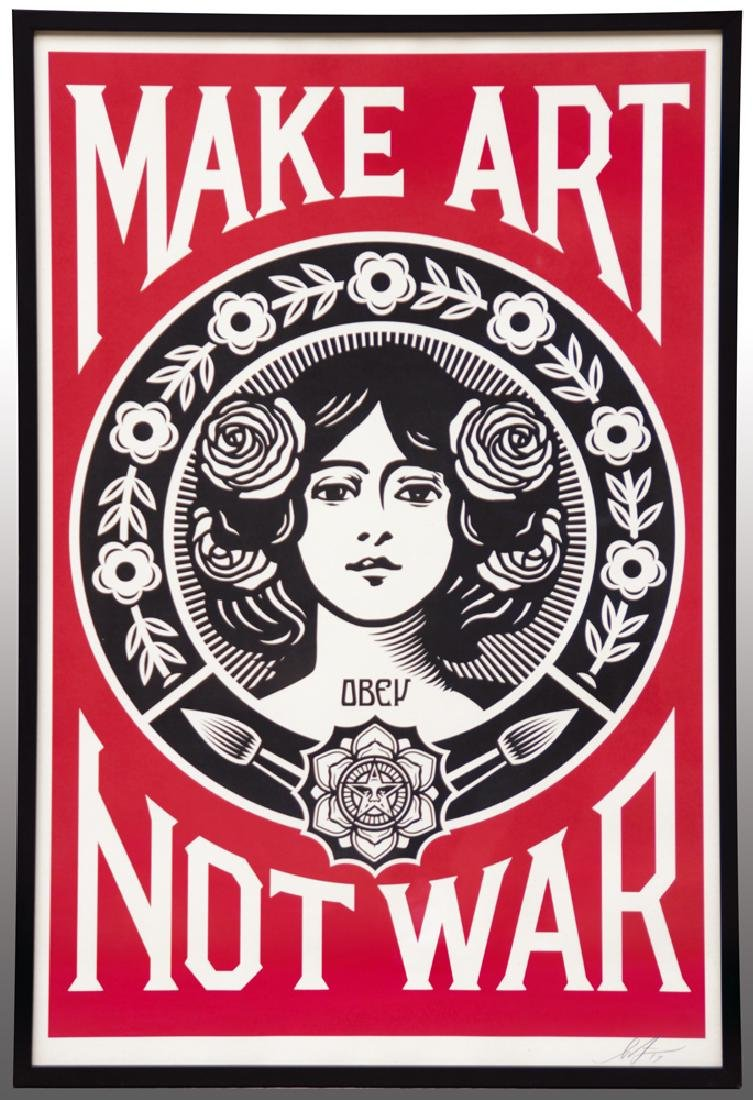 Shepard FAIREY (1970) Make Art Not War 2017