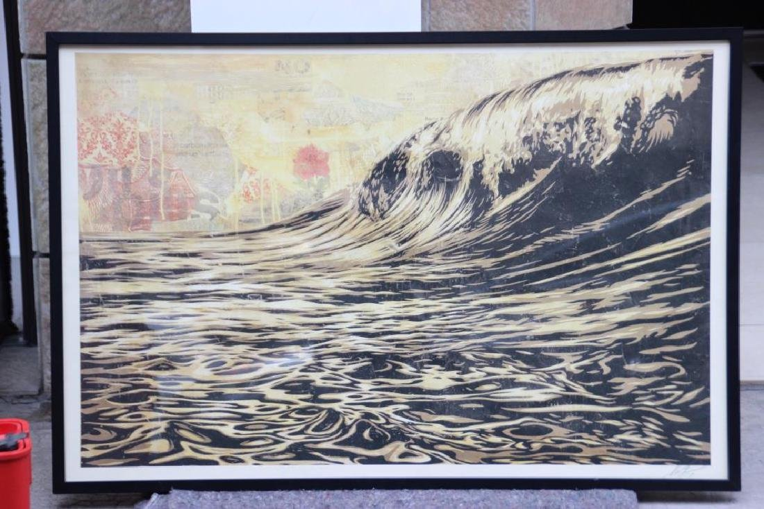 Shepard FAIREY (Alias OBEY GIANT) Né en 1970 La vague