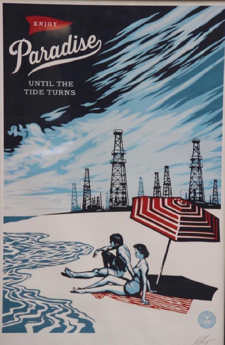 Shepard FAIREY (1970) Paradise Turns 2017 Sérigraphie
