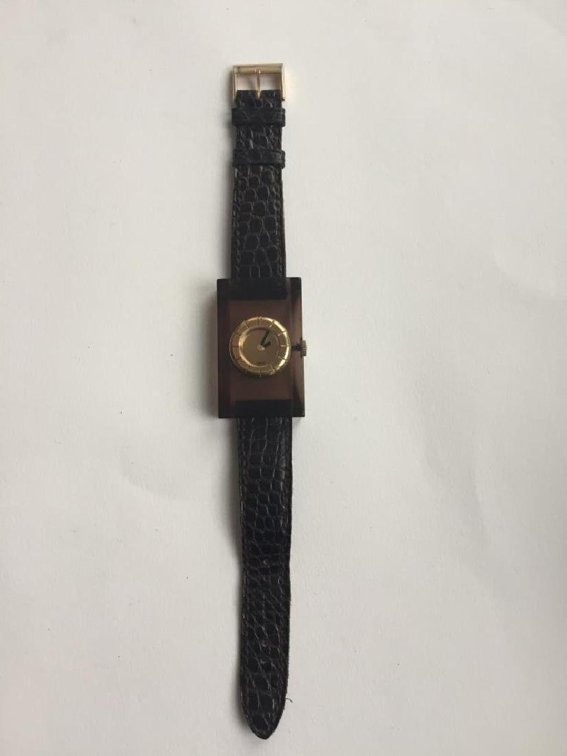 LANVIN Montre «seventies «, bracelet Louis Féraud ,
