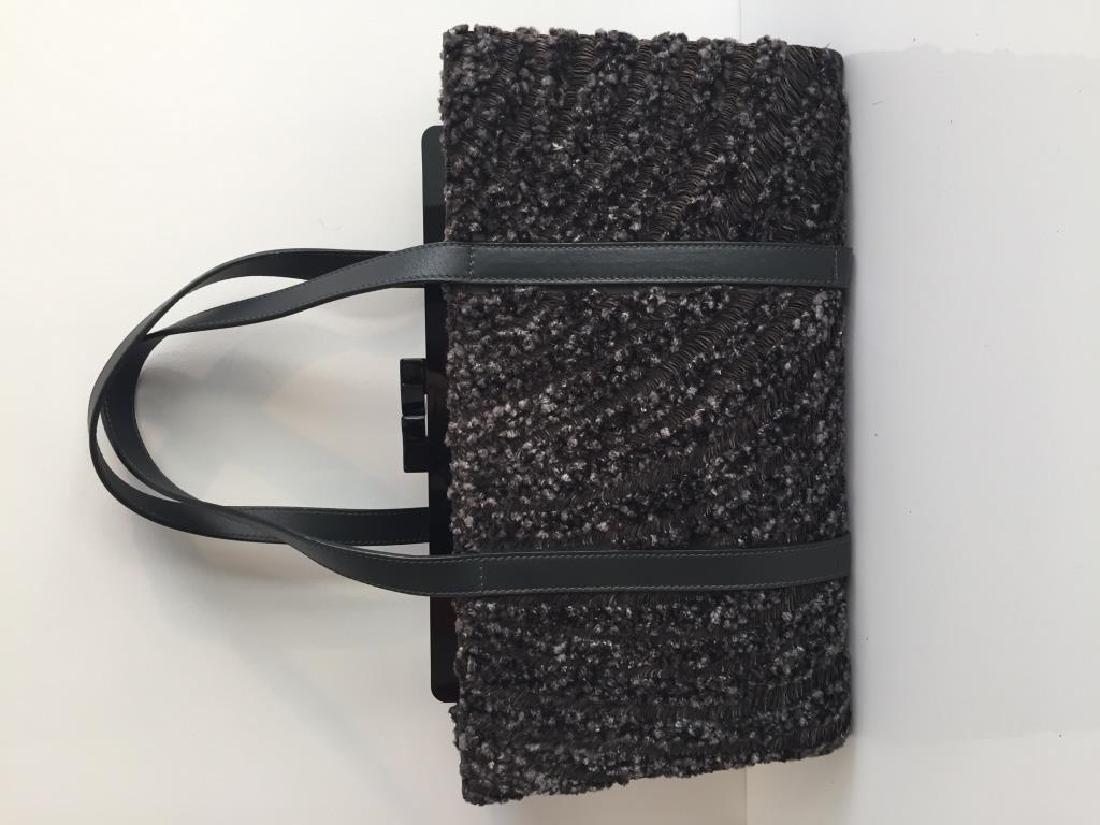 GIORGIO ARMANI Milano Made in Italy Sac en cuir noir ,
