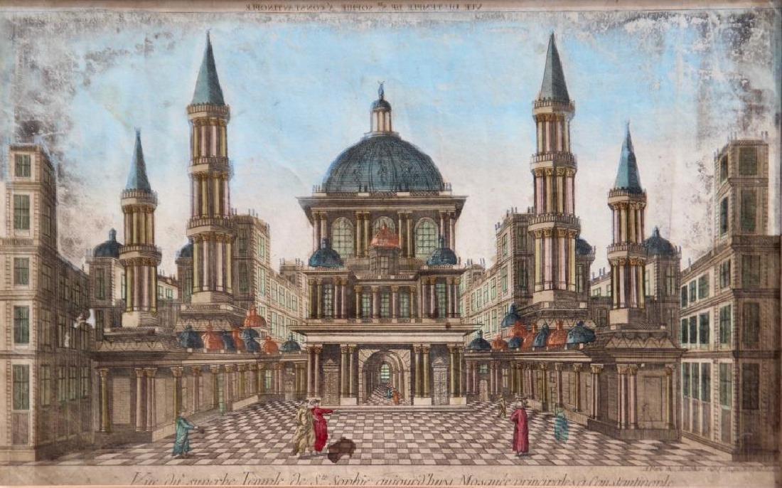 Travail du XVIIIème siècle Vue du superbe temple de Ste