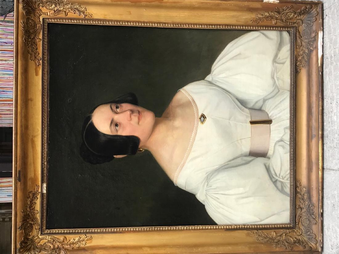 Ecole Française du XIX°siècle  Portrait de femme en