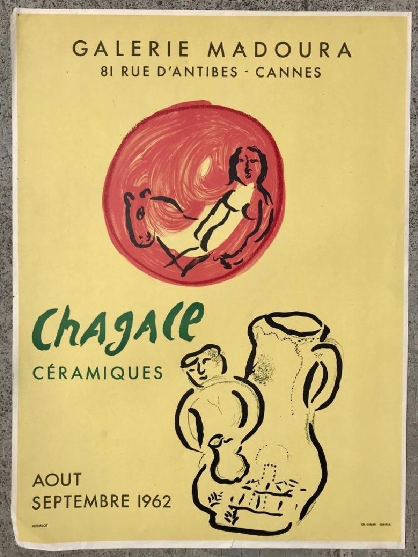 Marc CHAGALL (1887-1985) Céramiques Affiche pour