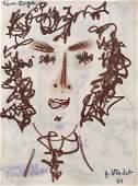 André VERDET (1913-2004) Portrait de Roger - 1965