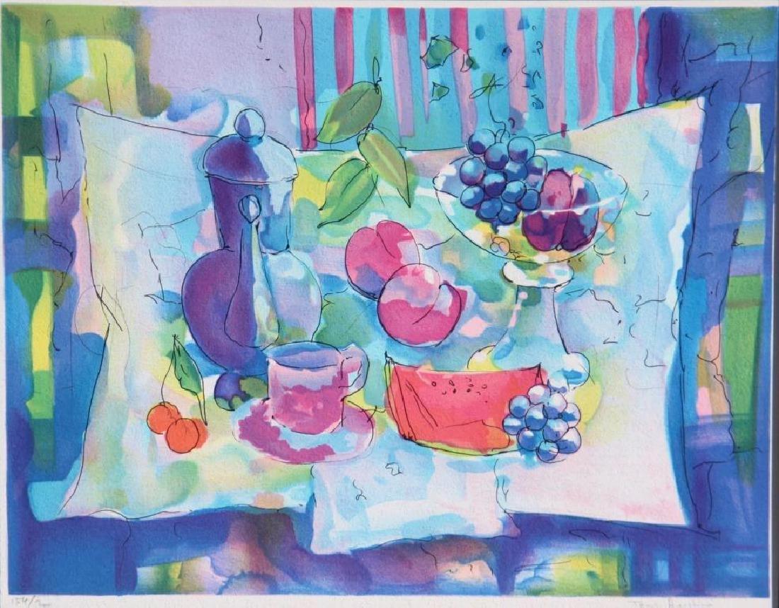 Tony AGOSTINI (1916-1990) Nature morte à la pastèque