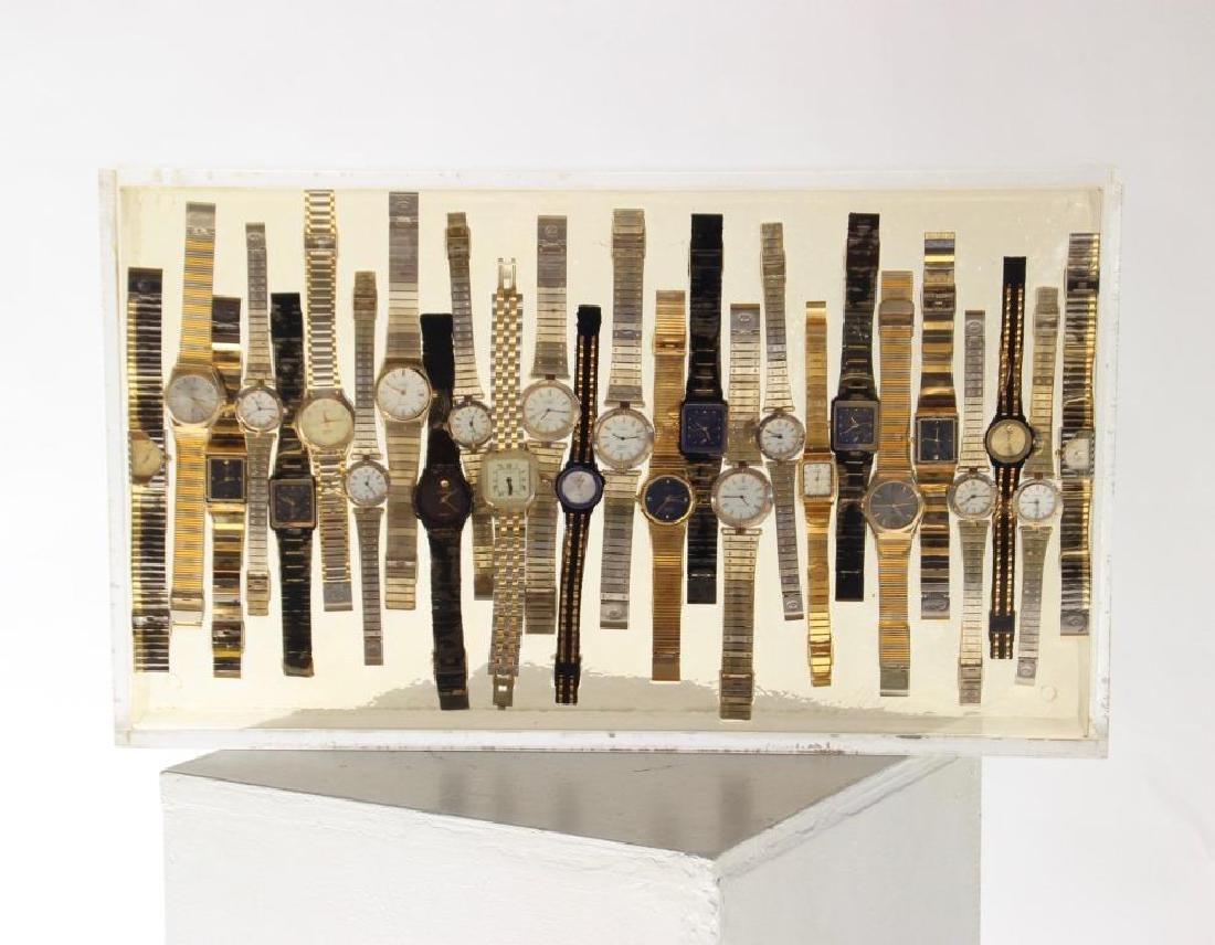 ARMAN (1928-2005) Cartier Inclusion de montres de la
