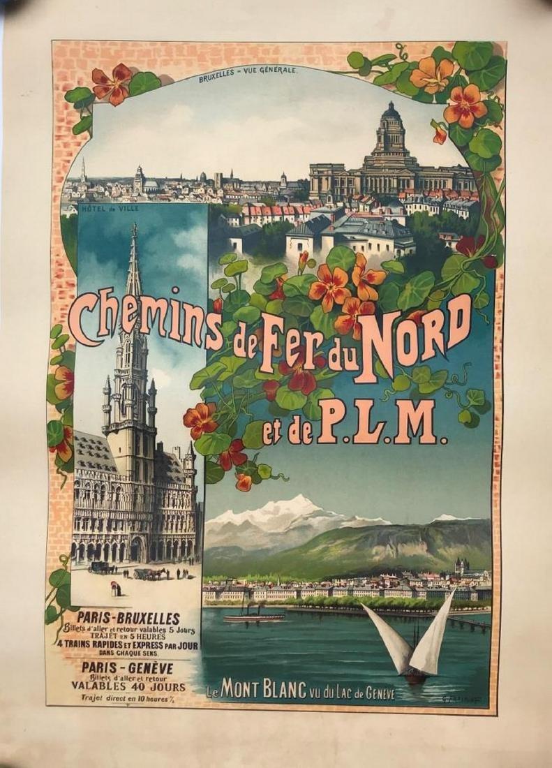 Gustave FRAIPONT (1849-1923)  Chemins de fer du Nord et