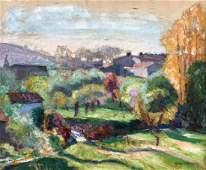 Victor CHARRETON (1864-1936) Paysage Huile sur toile