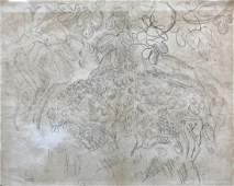 Raoul DUFY (1877-1953) Paysage de Vence - 1921 Crayon
