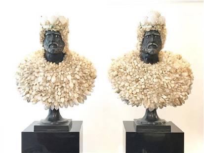 Anthony REDMILE (XX-XXI) Rare paire de bustes figurant