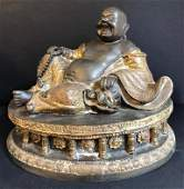 Epreuve en bronze figurant un bouddha Chine 22 x 28 x