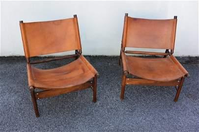Jorge ZALSZUPIN, vers 1955  Rare paire de fauteuils