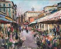 César BOLLETTI (c.1915-1995) Le cours Saleya à