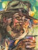 Louis FORTUNEY (1875-1951) Portrait de vieil homme