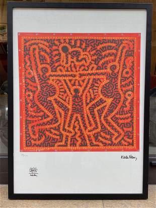 Keith HARING (1958-1990) D'aprèsPersonnage noir