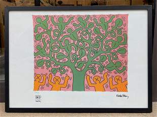 Keith HARING (1958-1990) D'aprèsPersonnage vert