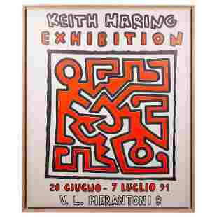 Keith HARING (1958-1990)Rare affiche d'exposition