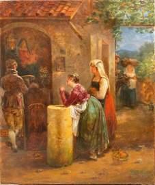 Hortense HAUDEBOURT-LESCOT (1784-1845) Scène de