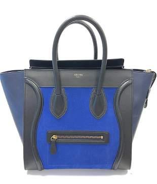 "CELINE Sac modèle ""Luggage Phantom"" en cuir noir,"