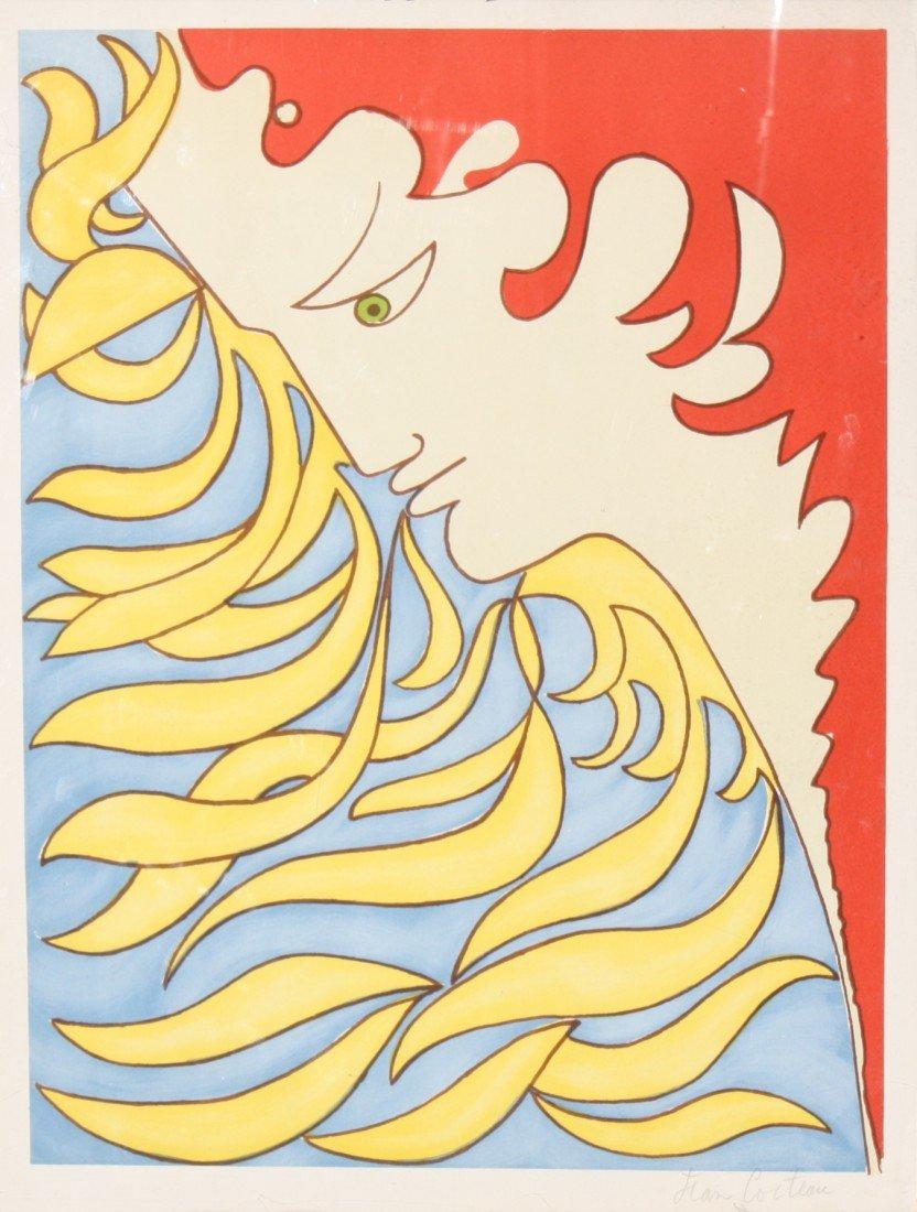 182: Jean COCTEAU (1889-1963) Lithographie en  couleurs