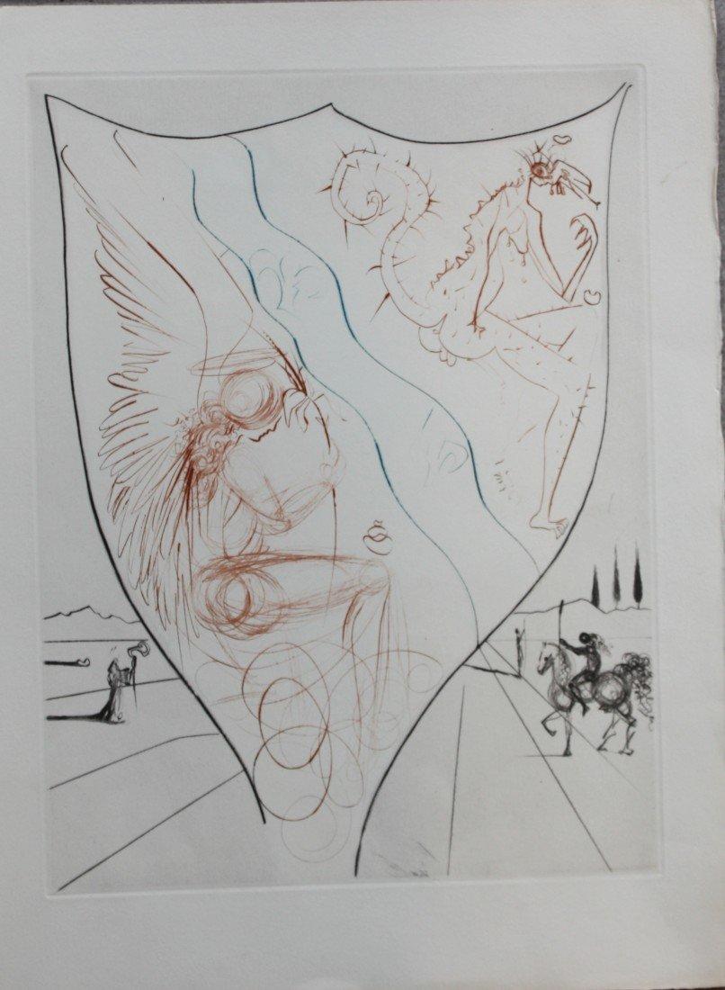 197: Salvador DALI (1904-1989) Blason biblique. Gravure
