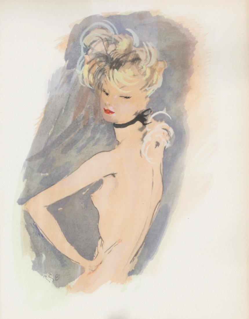 212: Jean Gabriel DOMERGUE (1889-1962) Lithographie en