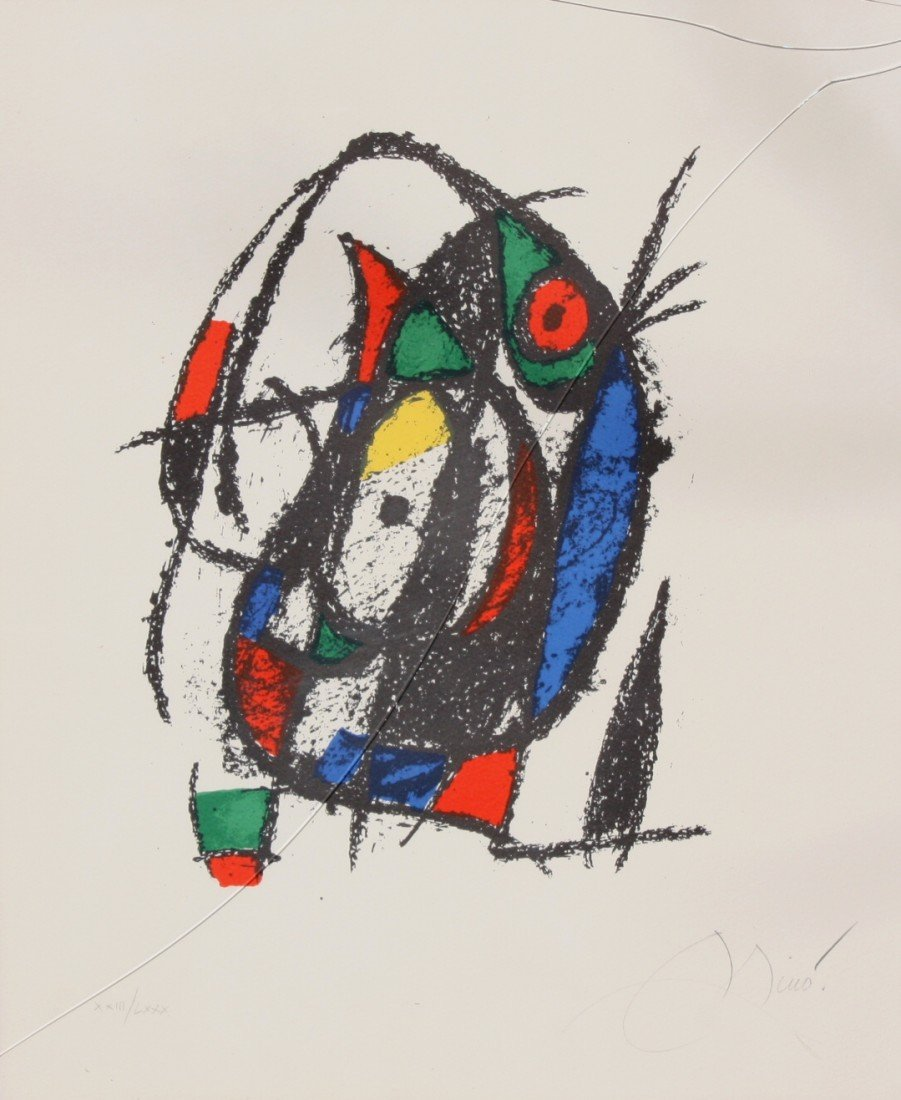 300: Joan MIRO (1893-1983) Composition Lithographie ori