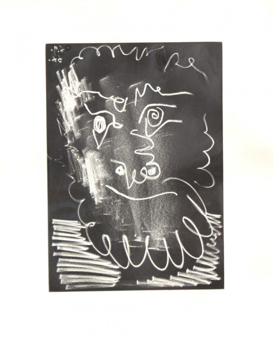 323: Pablo PICASSO (1881-1973) « Visage » Lithographie