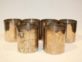 33: Série de six gobelets en argent. P : 1 300 g