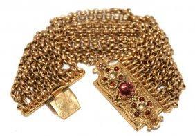 JOSE COTEL - Bracelet M�tal Dor�, Multiple Cha�nes,