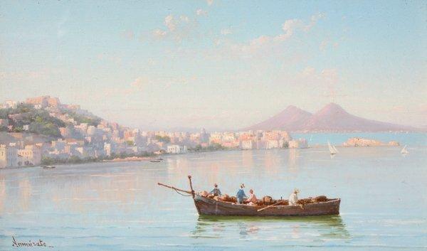 1: Domenico AMMIRATO Pêcheurs dans le Golfe de Naples G