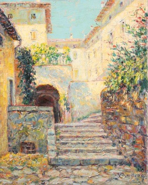 3: Rudolf ANDRÉ (1873-1920)  Les ruelles à Capri Huile