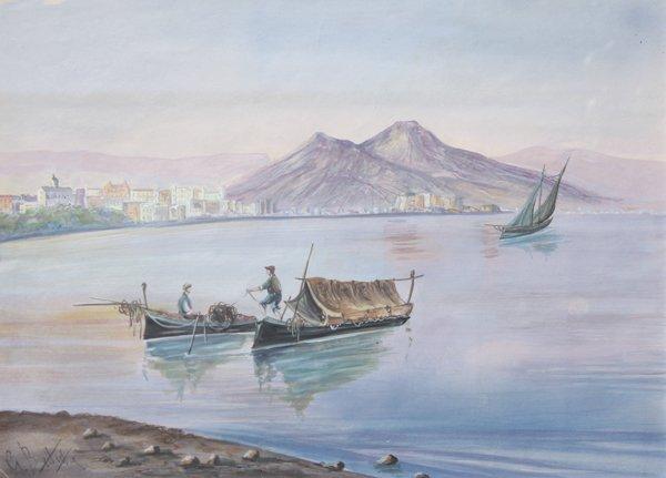 11: Giovanni BATTISTA (1858-1925)  Le Golfe de Naples G