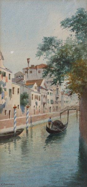 13: Eugenio BENVENUTI (1881-1959)  Canal à Venise Aquar
