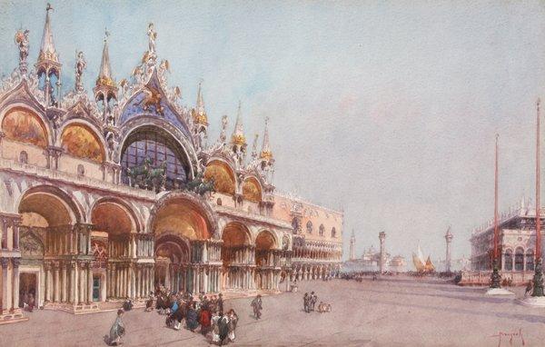 15: Emanuele BRUGNOLI (1859-1944)  La place Saint Marc