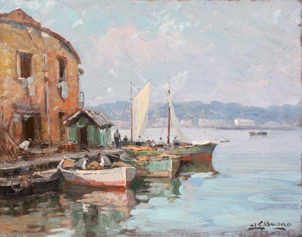 17: Leon Giuseppe BUONO Barque sur le port de Pozzuoli