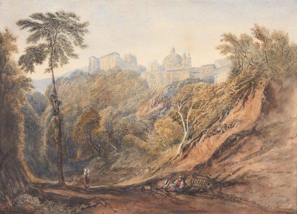 19: John BURGESS (1814-1874)  Vue de la Riccia - 1869 A